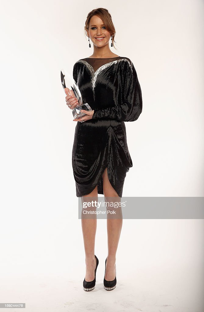 Actress Jennifer Lawrence poses for a portrait during the 39th Annual People's Choice Awards at Nokia Theatre L.A. Live on January 9, 2013 in Los Angeles, California.