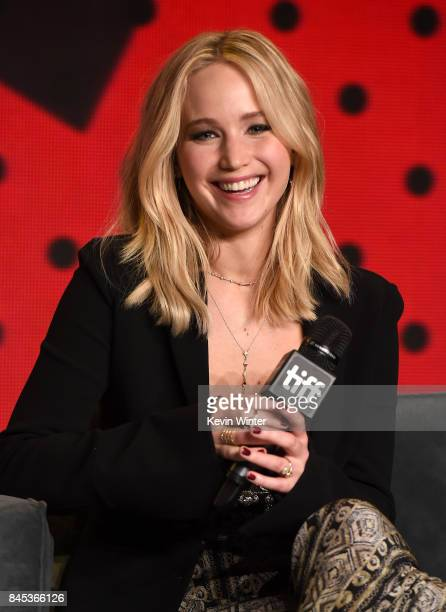 Actress Jennifer Lawrence speaks onstage at the mother press conference during the 2017 Toronto International Film Festival at TIFF Bell Lightbox on...
