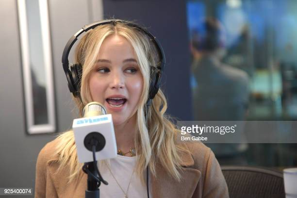 Actress Jennifer Lawrence visits 'Andy Cohen Live' hosted by Andy Cohen on his exclusive SiriusXM channel Radio Andy at the SiriusXM Studios on...