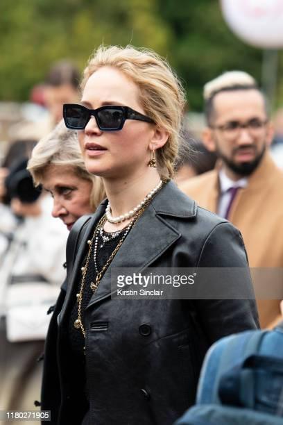 Actress Jennifer Lawrence wears Dior on September 24 2019 in Paris France