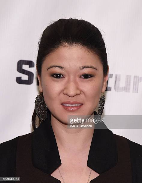 Actress Jennifer Lim attends 'The Liquid Plane' Opening Night Party at Signature Theatre Company's The Pershing Square Signature Center on March 8...