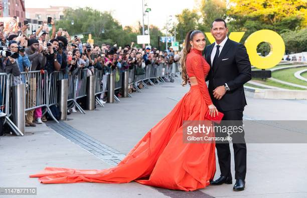 Actress Jennifer Lopez and Alex Rodriguez are seen arriving to the 2019 CFDA Fashion Awards on June 3 2019 in New York City