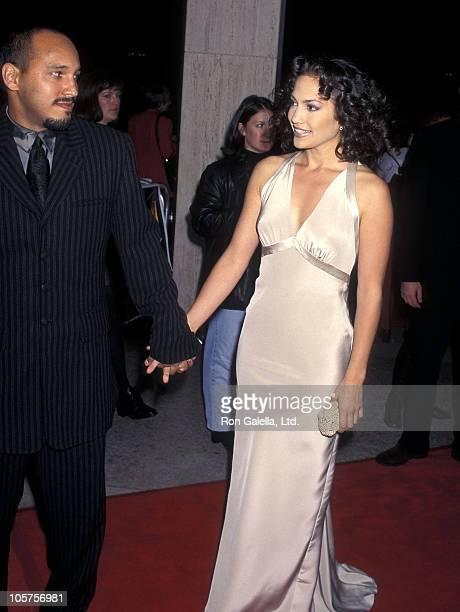 Actress Jennifer Lopez and boyfriend David Cruz attend the Money Train Century City Premiere on November 12 1995 at Cineplex Odeon Century Plaza...