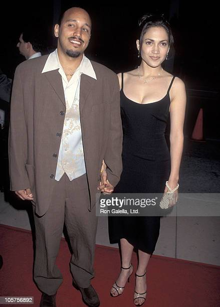 Actress Jennifer Lopez and boyfriend David Cruz attend the My Family Hollywood Premiere on April 27 1995 at Pacific's Cinerama Dome in Hollywood...