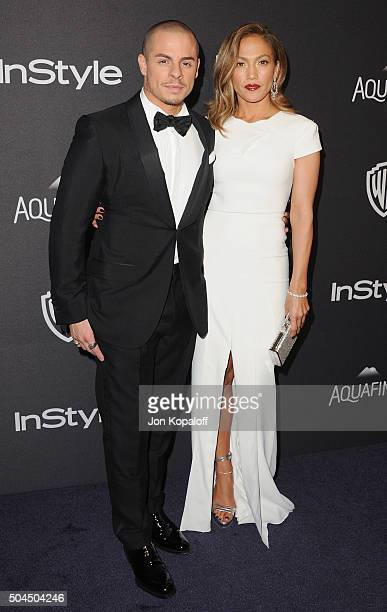 Actress Jennifer Lopez and Casper Smart arrive at the 2016 InStyle And Warner Bros. 73rd Annual Golden Globe Awards Post-Party at The Beverly Hilton...