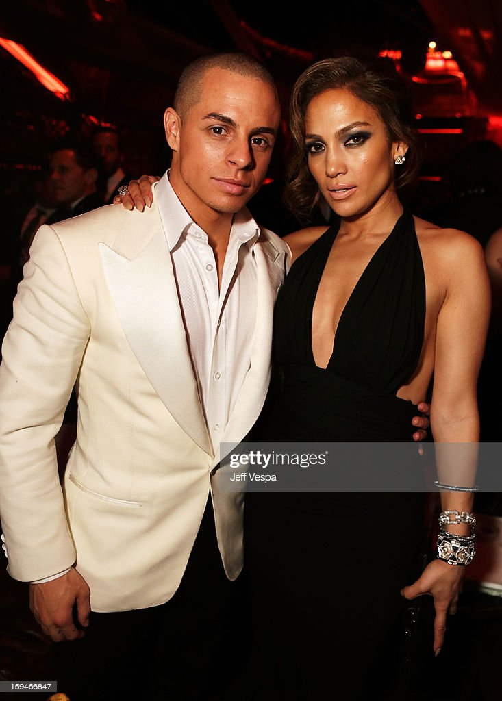Actress Jennifer Lopez (R) and Casper Smart attend the The Weinstein Company's 2013 Golden Globe Awards after party presented by Chopard, HP, Laura Mercier, Lexus, Marie Claire, and Yucaipa Films held at The Old Trader Vic's at The Beverly Hilton Hotel on January 13, 2013 in Beverly Hills, California.