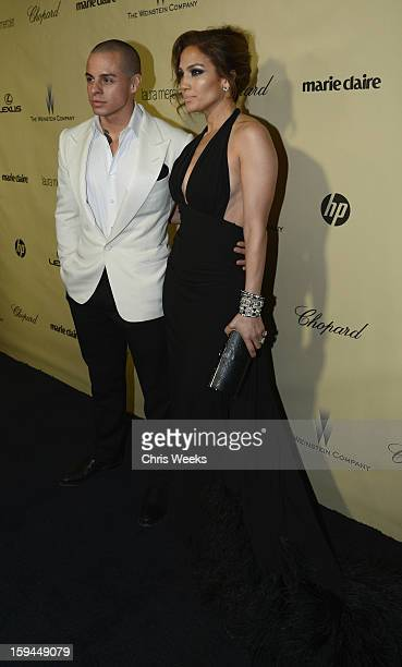 Actress Jennifer Lopez and Casper Smart attend The Weinstein Company's 2013 Golden Globe Awards after party presented by Chopard HP Laura Mercier...
