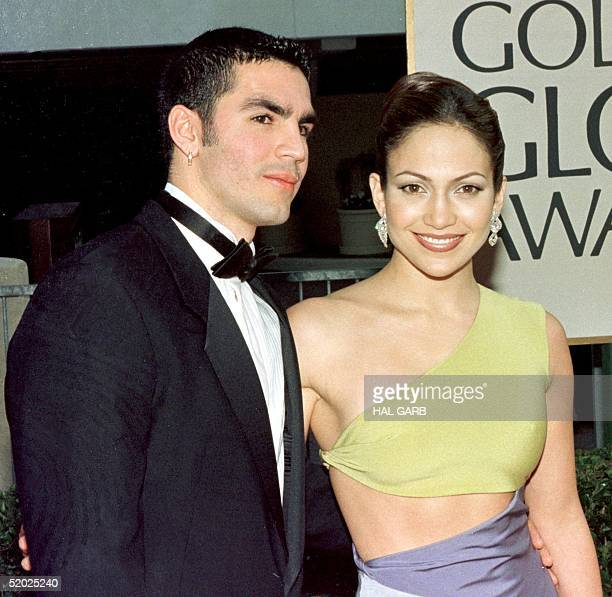 Actress Jennifer Lopez and her husband Ojana Non arrive for the 55th Annual Golden Globe Awards 18 January at the Beverly Hilton in Beverly Hills CA...