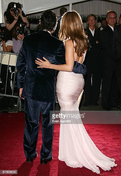 Actress Jennifer Lopez and her husband singer Marc Anthony attend the Metropolitan Museum of Art Costume Institute Benefit Gala Anglomania at the...