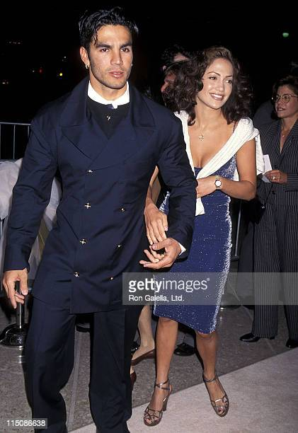 Actress Jennifer Lopez and husband Ojani Noa attend That Old Feeling Century City Premiere on March 31 1997 at Cineplex Odeon Century Plaza Cinemas...