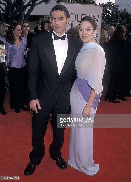 Actress Jennifer Lopez and husband Ojani Noa attend the 55th Annual Golden Globe Awards on January 18 1998 at Beverly Hilton Hotel in Beverly Hills...