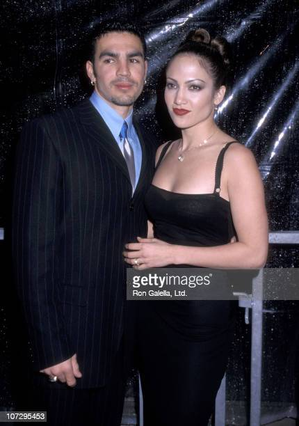 Actress Jennifer Lopez and husband Ojani Noa attend The Conga Room Grand Opening Celebration on February 23 1998 at The Conga Room in Los Angeles...