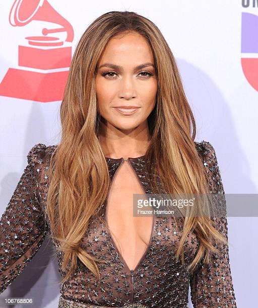 Actress Jennifer Lopez arrives at the 11th annual Latin GRAMMY Awards at the Mandalay Bay Resort Casino on November 11 2010 in Las Vegas Nevada