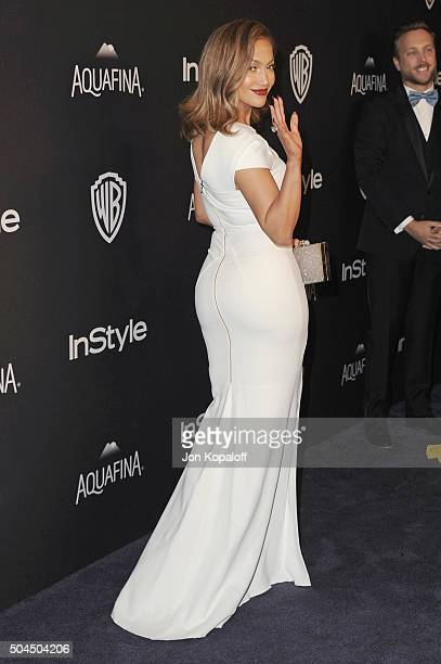 Actress Jennifer Lopez arrives at the 2016 InStyle And Warner Bros. 73rd Annual Golden Globe Awards Post-Party at The Beverly Hilton Hotel on January...