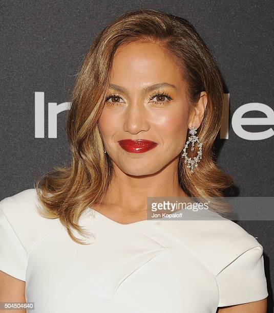 Actress Jennifer Lopez arrives at the 2016 InStyle And Warner Bros 73rd Annual Golden Globe Awards PostParty at The Beverly Hilton Hotel on January...