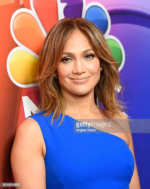 Actress Jennifer Lopez arrives at the 2016 Winter TCA Tour NBCUniversal Press Tour at Langham Hotel on January 13 2016 in Pasadena California
