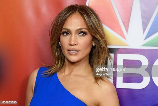 Actress Jennifer Lopez arrives at the 2016 Winter TCA Tour - NBCUniversal Press Tour at Langham Hotel on January 13, 2016 in Pasadena, California.