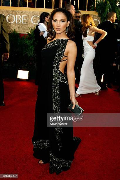 Actress Jennifer Lopez arrives at the 64th Annual Golden Globe Awards at the Beverly Hilton on January 15 2007 in Beverly Hills California