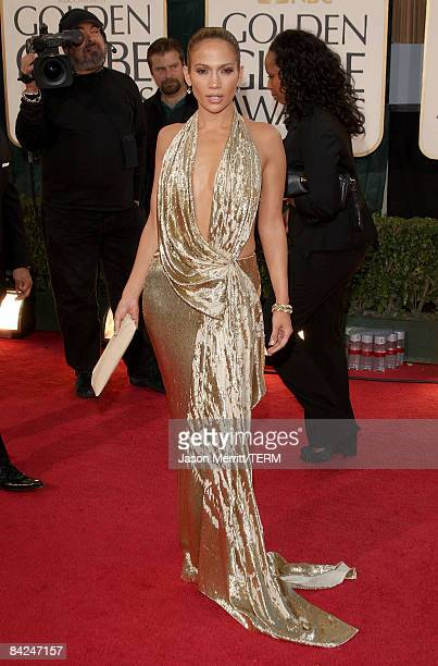Actress Jennifer Lopez arrives at the 66th Annual Golden Globe Awards held at the Beverly Hilton Hotel on January 11 2009 in Beverly Hills California