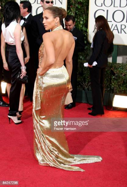 Actress Jennifer Lopez arrives at the 66th Annual Golden Globe Awards held at the Beverly Hilton Hotel on January 11, 2009 in Beverly Hills,...