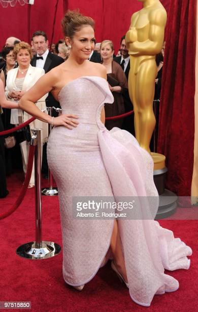 Actress Jennifer Lopez arrives at the 82nd Annual Academy Awards held at Kodak Theatre on March 7 2010 in Hollywood California