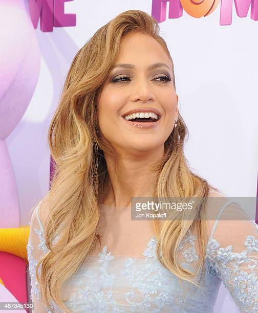 Actress Jennifer Lopez arrives at the Los Angeles Premiere HOME at Regency Village Theatre on March 22 2015 in Westwood California