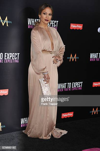 Actress Jennifer Lopez arrives at the premiere of What To Expect When Your Expecting premiere held at Grauman's Chinese Theater