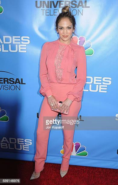 Actress Jennifer Lopez arrives at the Television Academy Event For NBC's Shades Of Blue at Saban Media Center on June 9 2016 in North Hollywood...