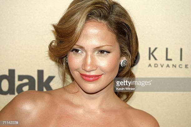 Actress Jennifer Lopez arrives at the Women in Film presentation of the 2006 Crystal and Lucy Awards at the Century Plaza Hotel on June 6 2006 in...