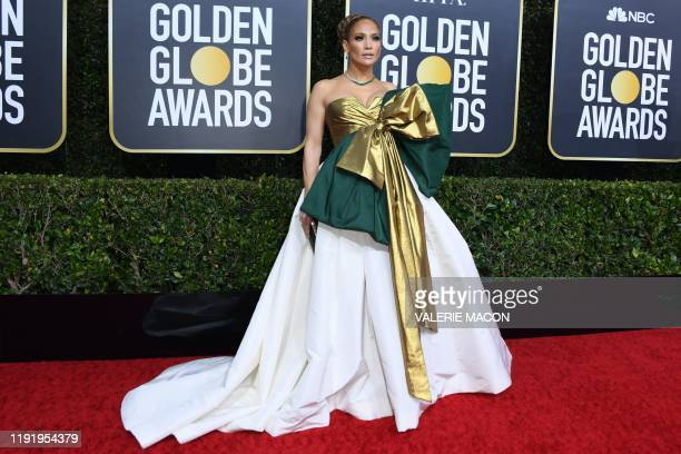 TOPSHOT US actress Jennifer Lopez arrives for the 77th annual Golden Globe Awards on January 5 at The Beverly Hilton hotel in Beverly Hills California