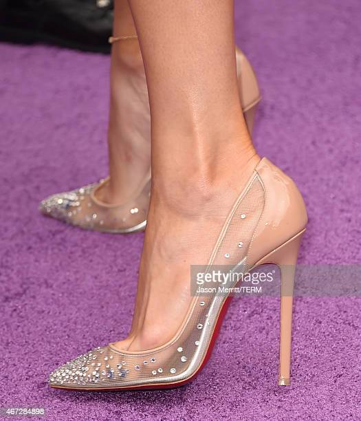 Actress Jennifer Lopez attend the premiere of Twentieth Century Fox And Dreamworks Animation's 'HOME' at Regency Village Theatre on March 22 2015 in...