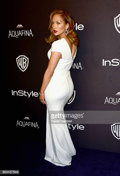 Actress Jennifer Lopez attends InStyle and Warner Bros 73rd Annual Golden Globe Awards PostParty at The Beverly Hilton Hotel on January 10 2016 in...