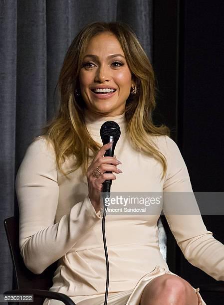 Actress Jennifer Lopez attends SAGAFTRA Foundation Conversations with Jennifer Lopez for 'Shades Of Blue' at SAGAFTRA Foundation on April 21 2016 in...