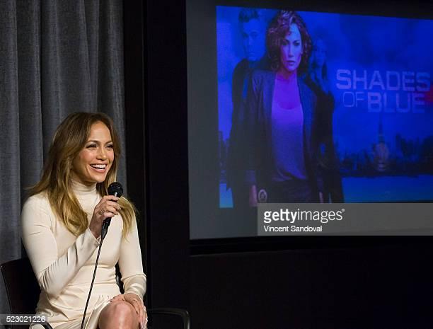 Actress Jennifer Lopez attends SAGAFTRA Foundation Conversations with Jennifer Lopez for Shades Of Blue at SAGAFTRA Foundation on April 21 2016 in...