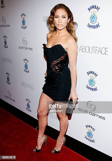 """Actress Jennifer Lopez attends Scott Barnes' """"About Face"""" book launch party at Provocateur at The Hotel Gansevoort on January 20, 2010 in New York..."""