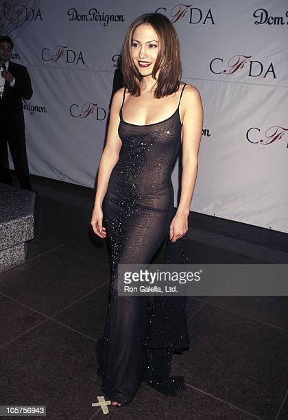 Actress Jennifer Lopez attends the 17th Annual CFDA Awards on February 8 1998 at JP Morgan Atrium in New York City