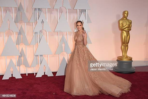 Actress Jennifer Lopez attends the 87th Annual Academy Awards at Hollywood & Highland Center on February 22, 2015 in Hollywood, California.