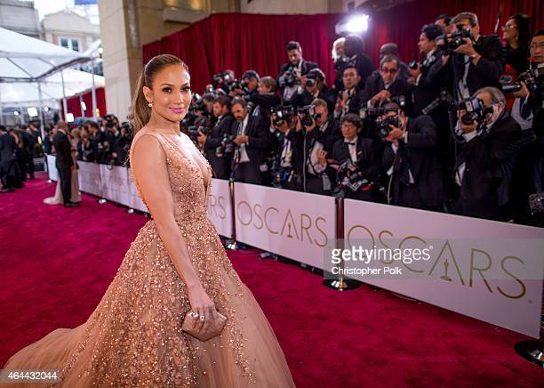 Actress Jennifer Lopez attends the 87th Annual Academy Awards at Hollywood Highland Center on February 22 2015 in Hollywood California