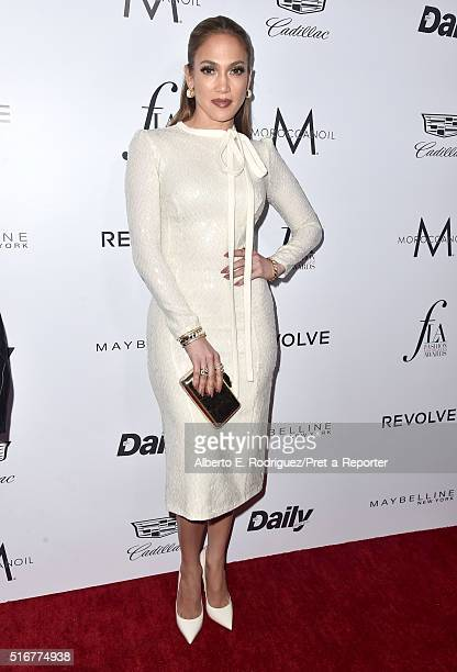 """Actress Jennifer Lopez attends the Daily Front Row """"Fashion Los Angeles Awards"""" at Sunset Tower Hotel on March 20, 2016 in West Hollywood, California."""