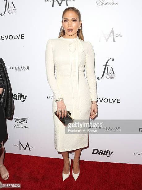 Actress Jennifer Lopez attends the Daily Front Row Fashion Los Angeles Awards at Sunset Tower Hotel on March 20 2016 in West Hollywood California