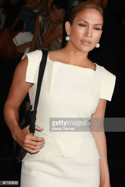 Actress Jennifer Lopez attends the Marc Jacobs Spring 2009 fashion show during Mercedes-Benz Fashion Week at the NY State Armory on September 8, 2008...