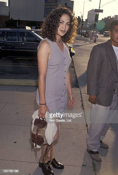 Actress Jennifer Lopez attends the Mi Vida Loca Hollywood Premiere on July 18 1994 at Pacific's Cinerama Dome in Hollywood California