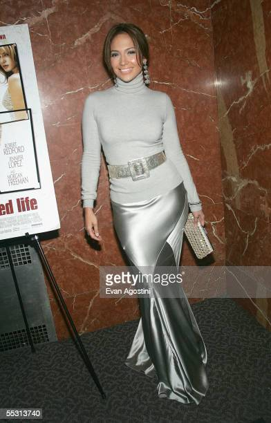Actress Jennifer Lopez attends the premiere of 'An Unfinished Life' September 7 2005 in New York City