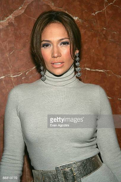 "Actress Jennifer Lopez attends the premiere of ""An Unfinished Life"" September 7, 2005 in New York City."