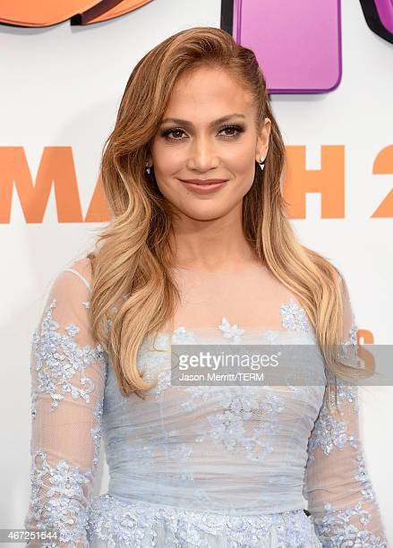 Actress Jennifer Lopez attends the premiere of Twentieth Century Fox And Dreamworks Animation's HOME at Regency Village Theatre on March 22 2015 in...