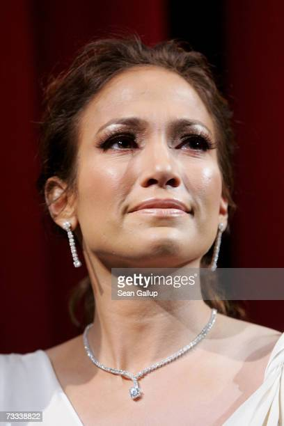 Actress Jennifer Lopez attends the premiere to promote the movie 'Bordertown' during the 57th Berlin International Film Festival on February 15 2007...