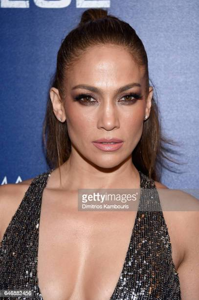 Actress Jennifer Lopez attends The Season 2 Premiere Of 'Shades Of Blue' hosted by NBC And The Cinema Society at The Roxy Hotel Cinema on March 1...