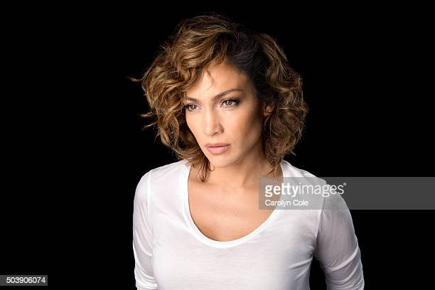 Actress Jennifer Lopez is photographed on the set of the new NBC show Shades of Blue for Los Angeles Times on August 12 2015 in New York City...
