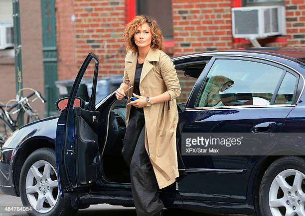 Actress Jennifer Lopez is seen filming on August 20 2015 in New York City
