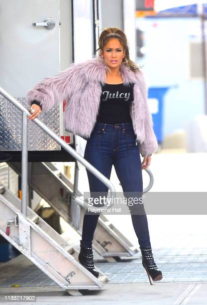 Actress Jennifer Lopez is seen on the set of 'Hustlers on March 27 2019 in New York City